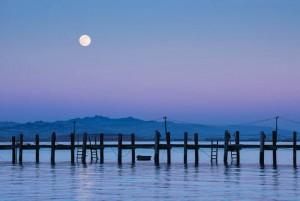 Moonrise San Pablo Bay